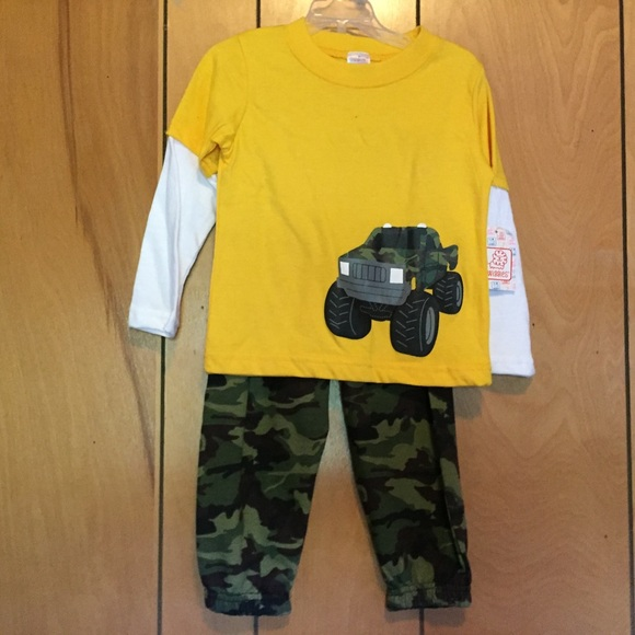 daf693253eff6 Matching Sets | Toddler Boy Camo Monster Truck Outfit 2t Nwt | Poshmark